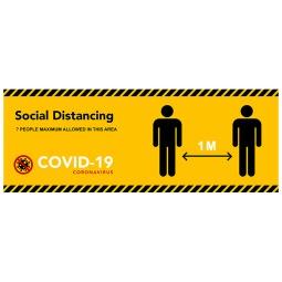 Social Distancing PVC Banners - Design 3