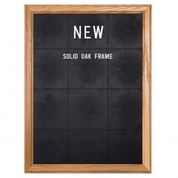 Solid Oak Peg Letter Board - Uses Sustainable Wood