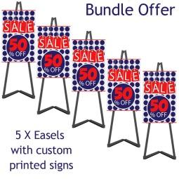 Portable Display Easel Bundle Offer