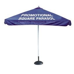 Square branded parasol