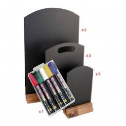 Table Top Chalkboard Package