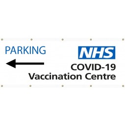 NHS Covid Vaccination Centre PVC Banners - Design 2