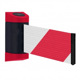 Wall Mounted Retractable Belt Barrier - Extra Wide Webbing