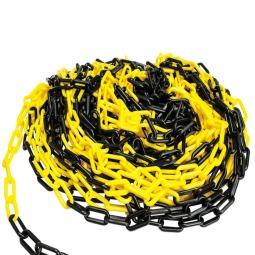 Yellow and Black plastic chain