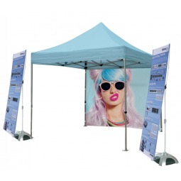 Commercial grade outdoor tent and banner stands kit