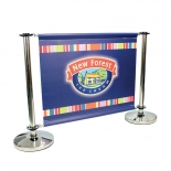 Custom Cafe Barrier Banners