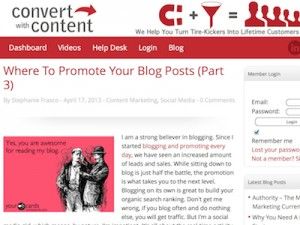 Convert with Content Screenshot