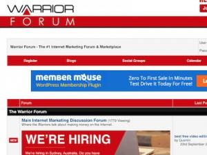 Warrior Forum Screenshot