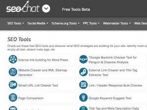 SEO Chat Tools Screenshot