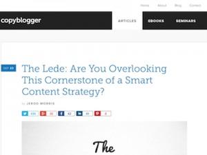 CopyBlogger.com Screenshot
