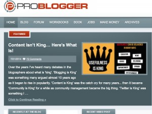 ProBlogger.com Screenshot