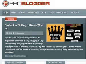 ProBlogger.com Screenshot
