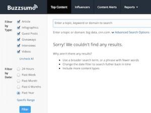 Buzz Sumo Screenshot