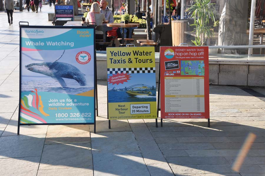 A boards are great for driving traffic to local businesses