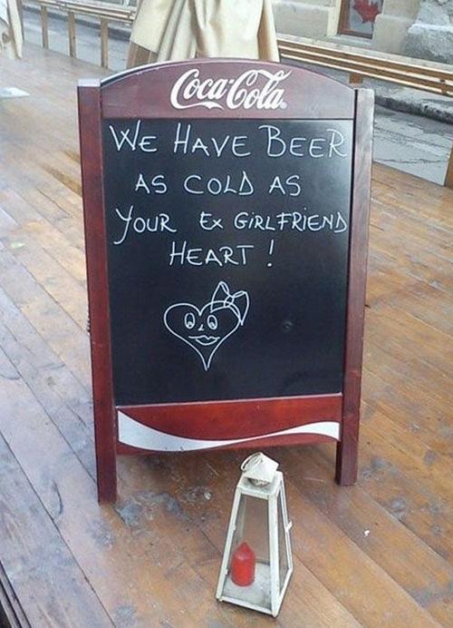 Funny Chalk Pavement Sign 1