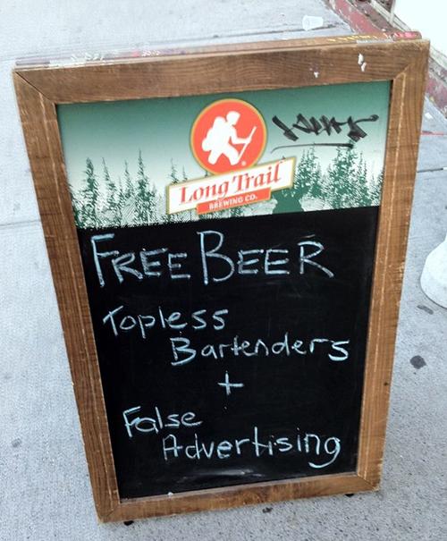 Funny Chalk Pavement Sign 3