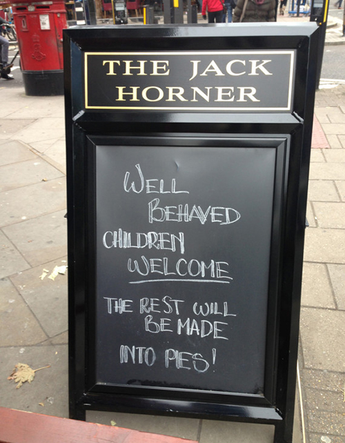 Funny Chalk Pavement Sign 6