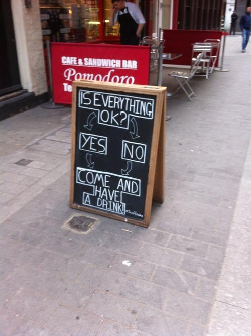 Funny Chalk Pavement Sign 7